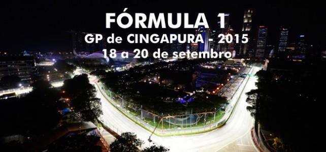 FÓRMULA 1 – Programação, horários e transmissão – GP de Cingapura – 2015