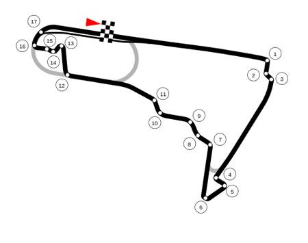 """""""Autódromo Hermanos Rodríguez 2015"""" por Pitlane02 - Obra do próprio."""