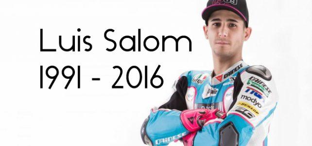 FATALIDADE – Acidente na Moto2 – Luis Salom não resiste aos ferimentos – 2016