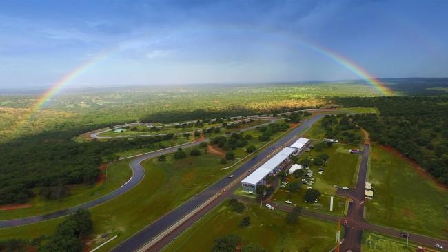 aérea arco iris