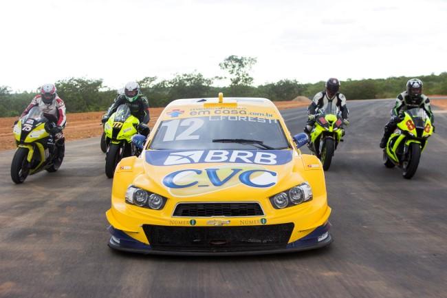 teste de Equipes Stock Car e Motovelocidade