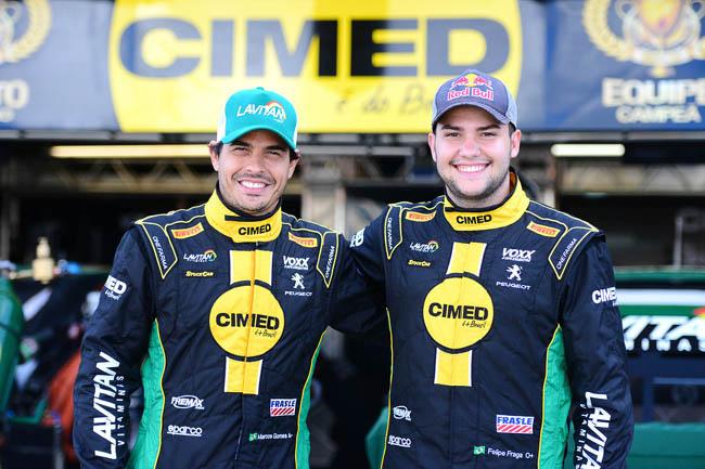 Marcos Gomes e Felipe Fraga. - Foto: Fernanda Freixosa