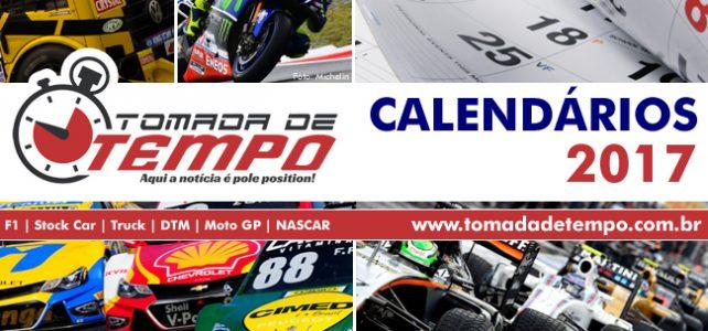 Calendários da temporada 2017 – Fórmula 1, Stock Car, MotoGP, Truck, DTM, WEC e outros