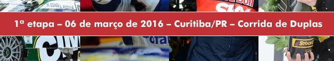 1ª Etapa - Curitiba/PR - Corrida de Duplas - 06 de março de 2016