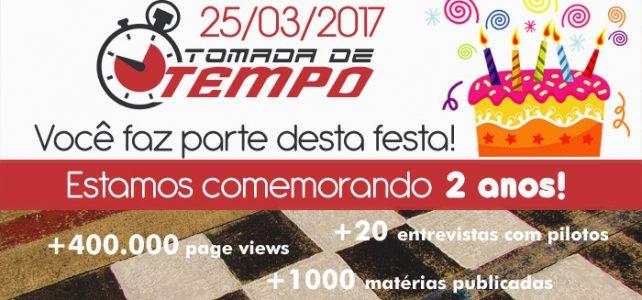 TOMADA DE TEMPO – Aniversário – 2 anos – 2015/2017