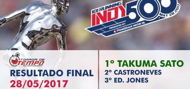 FÓRMULA INDY – Resultado Final – 500 Milhas de Indianápolis – 2017
