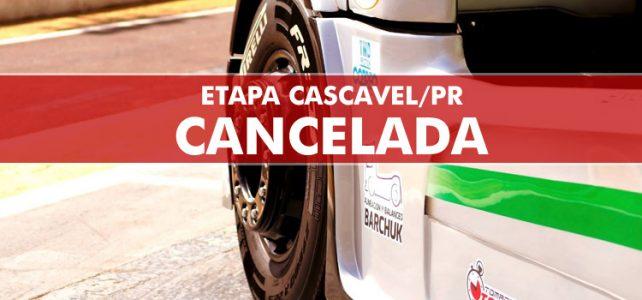 FÓRMULA TRUCK – CANCELADA! CANCELADA! Etapa de Cascavel/PR – 2017