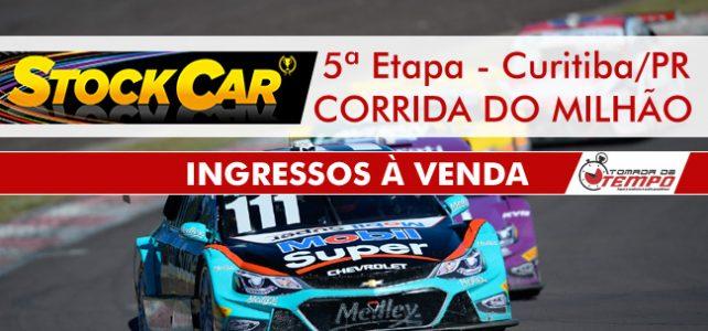STOCK CAR – Venda de ingressos – CORRIDA DO MILHÃO – 5ª Etapa – Curitiba/PR – 2017