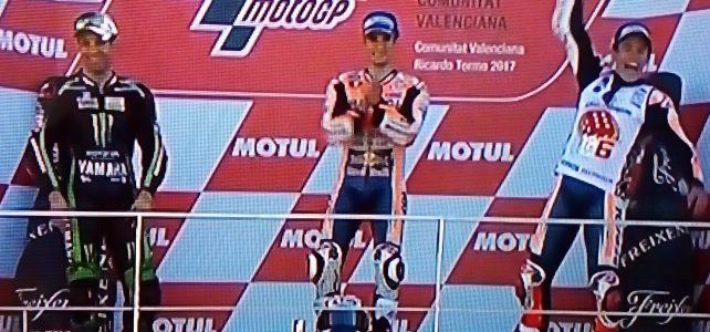 MOTOGP – Resultado Final – Marquez é o Campeão – GP de Valência – 2017