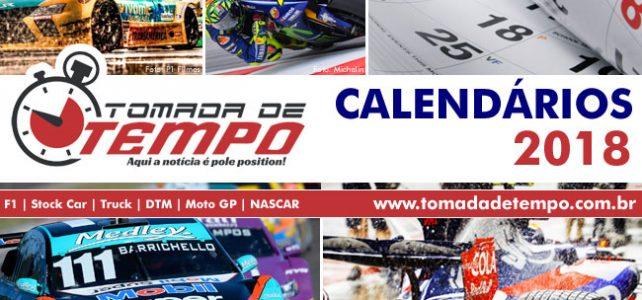 Calendários da temporada 2018 – Fórmula 1, Indy, Stock Car, MotoGP, Fórmula-E, DTM, WEC e outros