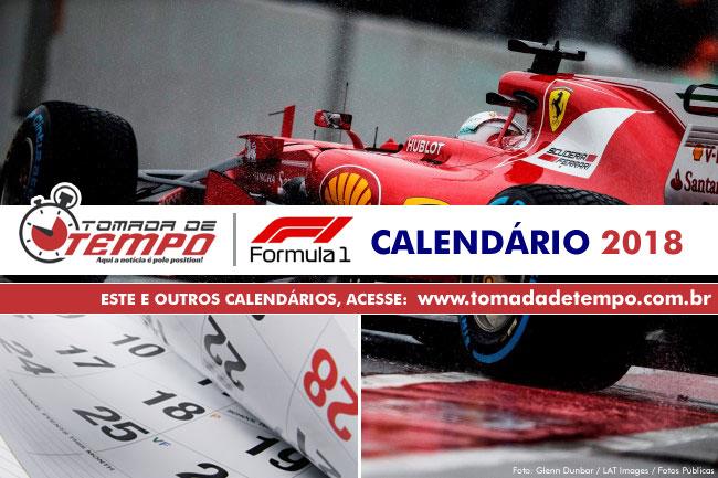 Calendario Formula1.Formula 1 Calendario 2018 Tomada De Tempo