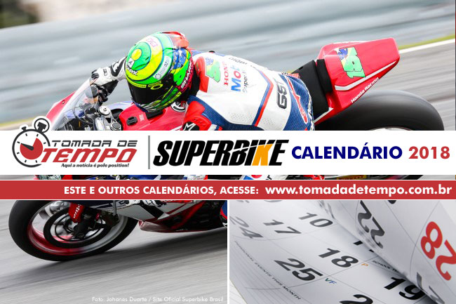 Calendario Super Bike.Superbike Brasil Calendario 2018 Tomada De Tempo