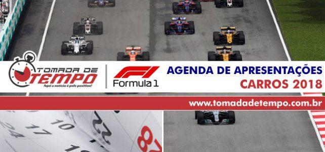FÓRMULA 1 – Agenda de apresentações dos carros – Temporada 2018