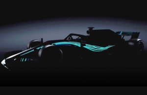 Carro da Mercedes - W09 - 2018. Foto: Site Oficial Mercedes
