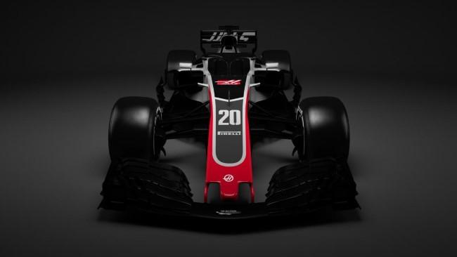 Carro 2018 da Haas - Imagem: www.haasf1team.com