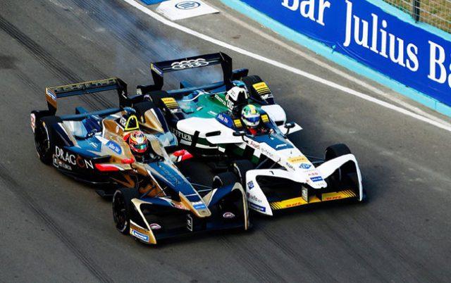Disputa entre Vergne e Di Grassi - Foto: Site Oficial Formula-E