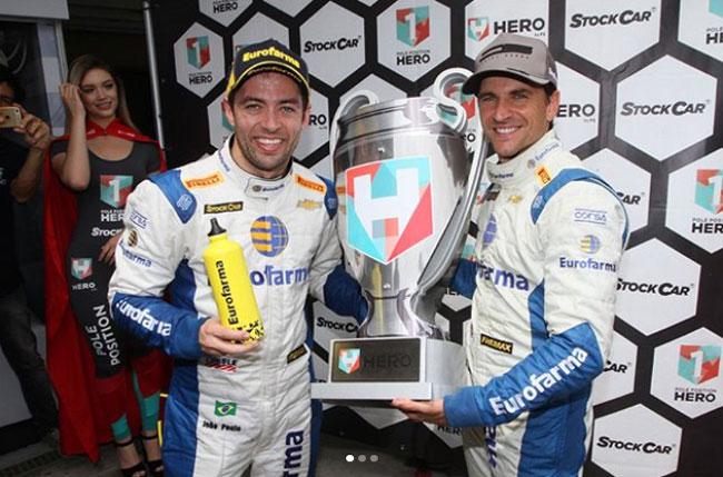 Daniel Serra e João Paulo (RC Competições) - Pole Position - Stock Car - Interlagos - Foto: Instagram Oficial Daniel Serra