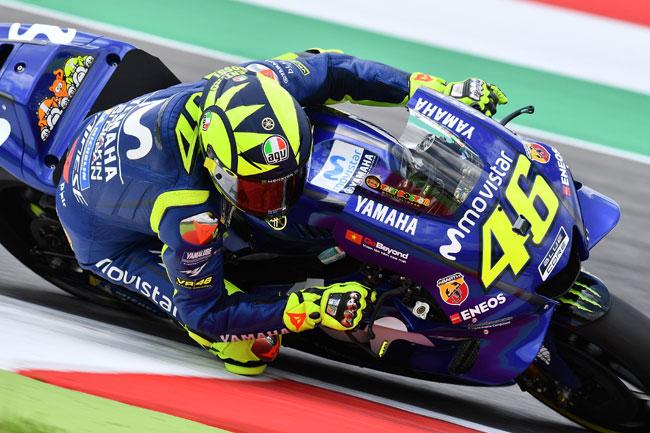 Rossi em casa, na Itália - Foto: Michelin