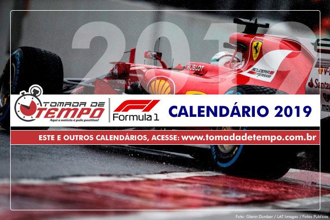 Calendario Formula1.Formula 1 Calendario 2019 Tomada De Tempo