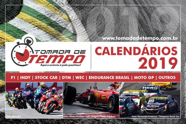 Calendario Mostre Foi 2019.Calendarios Da Temporada 2019 Formula 1 Indy Stock Car