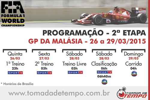 Tomada de Tempo - Programação Malásia 2015 - Fórmula 1