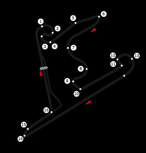 Circuito de Xangai - China - Fonte: Wikipédia