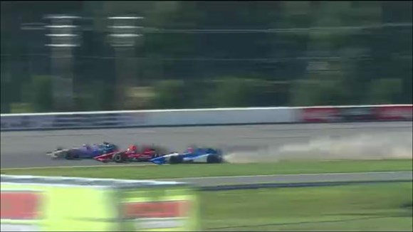Foto: Momento do acidente entre Rahal e Tristan. Fonte: Reprodução Twitter
