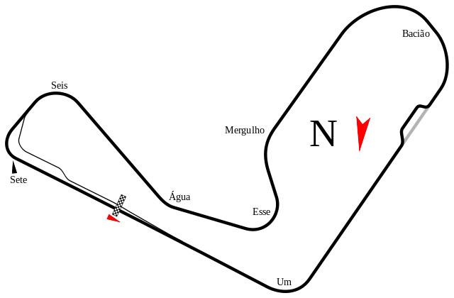 """Autódromo Internacional de Cascavel (Brazil) track map"" por Will Pittenger"