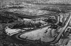Vista aérea da pista de Cascavel em 1973. Foto: Gazeta Esportiva