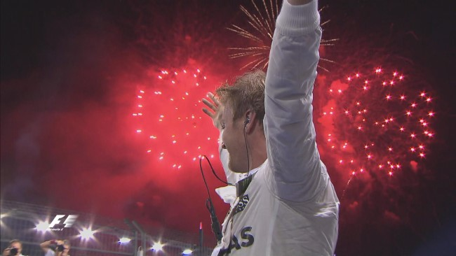O final de semana foi dele, NICO ROSBERG! Corrida #200, Pole e Vitória! Parabéns! Foto: Twitter F1 Oficial