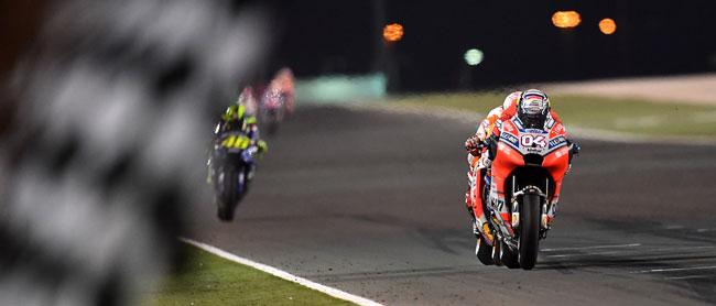 Marc MARQUEZ SPA / Andrea DOVIZIOSO ITA - Linha de Chegada - Qatar 2018 - Moto GP - Foto: Michelin