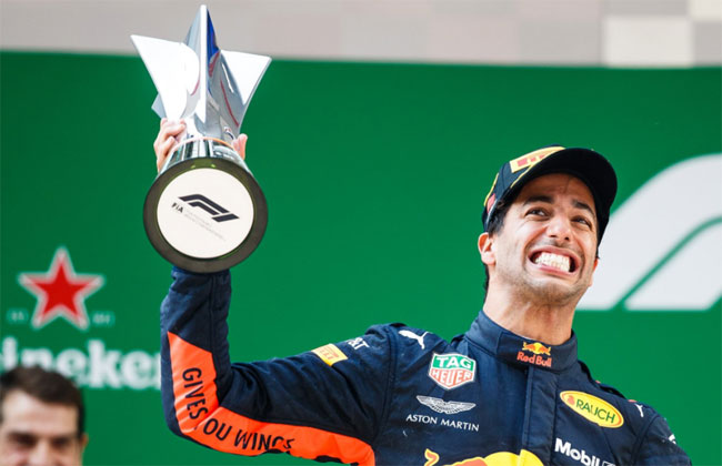Ricciardo vence GP da China 2018 - Foto: Twitter F1 Oficial