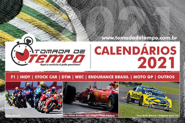 Calendários 2021 – Automobilismo