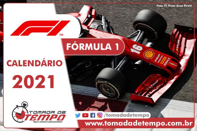 Calendário F1 2021 - Tomada de Tempo