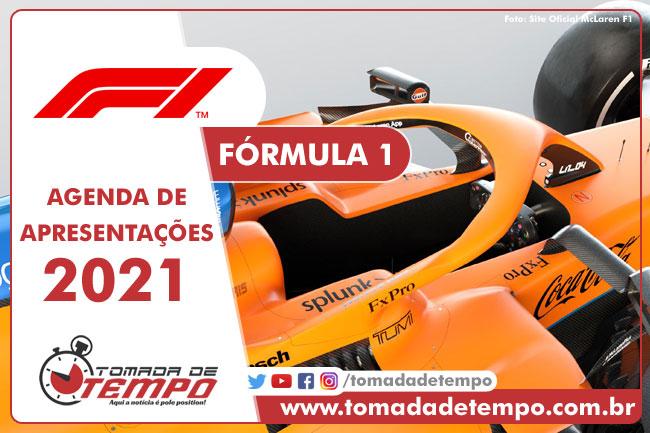 Agenda - Carros - Fórmula 1 - 2021