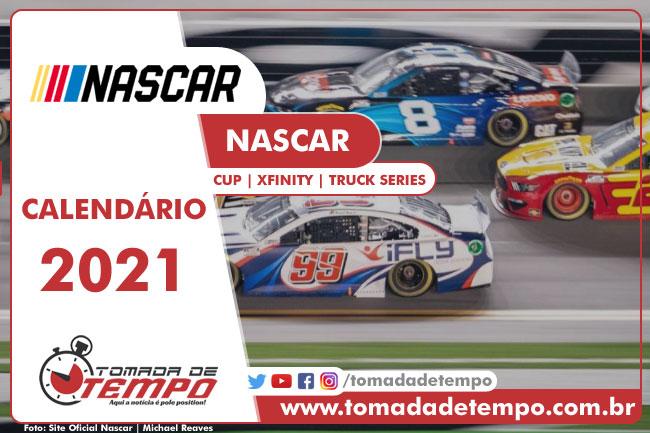 Calendário NASCAR 2021 - Tomada de Tempo