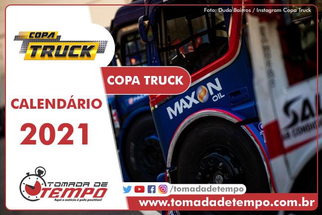 Calendário Copa Truck 2021 - Tomada de Tempo