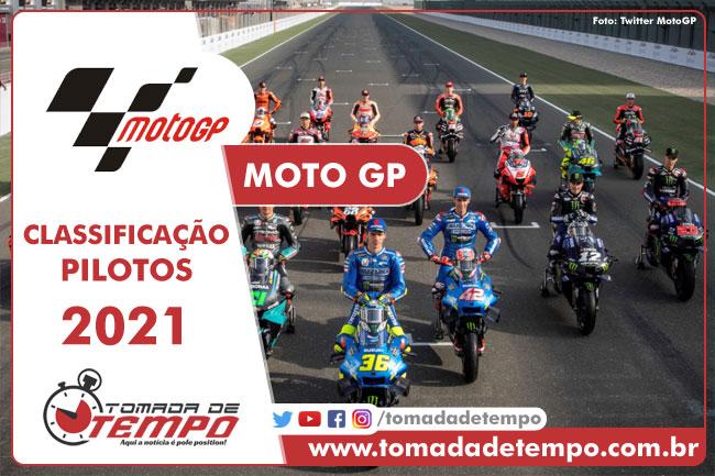 MOTO GP – Classificação de pilotos – 2021