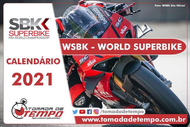 Calendário WSBK 2021 - Tomada de Tempo
