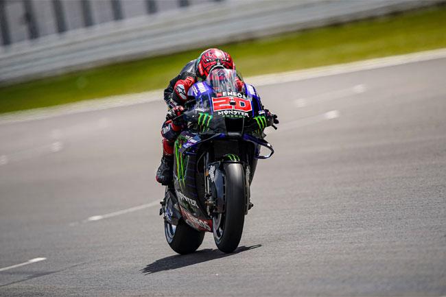 Foto: Fabio Quartararo - líder da temporada 2021 da MOTO GP - Fonte: Twitter Yamaha
