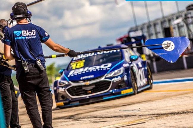 Allam Khodair da Blau Motorsport tem o melhor tempo no TL1 da Stock Car em Goiânia 2021! Foto: Instagram: Blau Motorspot