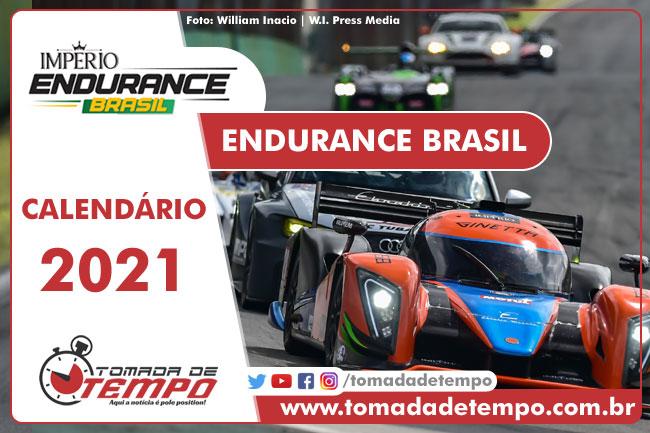 Calendário 2021 da Endurance Brasil