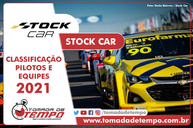 Equipes e Pilotos - Stock Car Pro Series 2021 - Tomada de Tempo