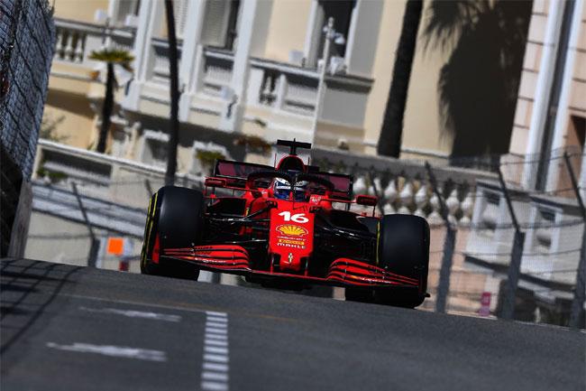 Leclerc é o POLE em Mônaco - F1 - 2021   Foto: Twitter Ferrari Oficial