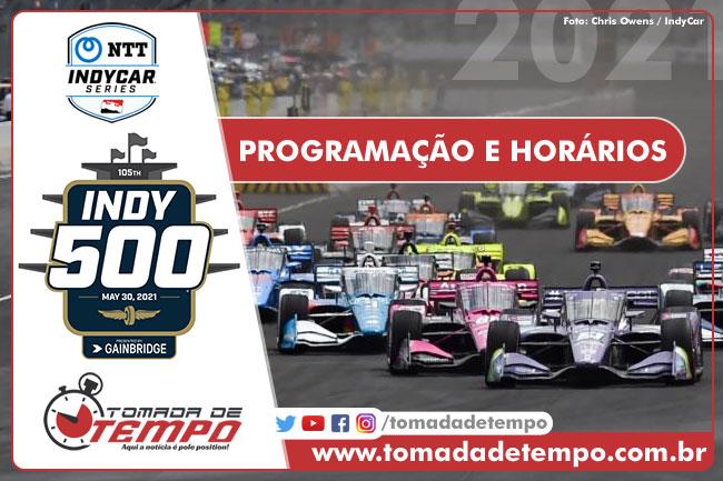 Programação, horários e transmissão - Indy 500 - 2021