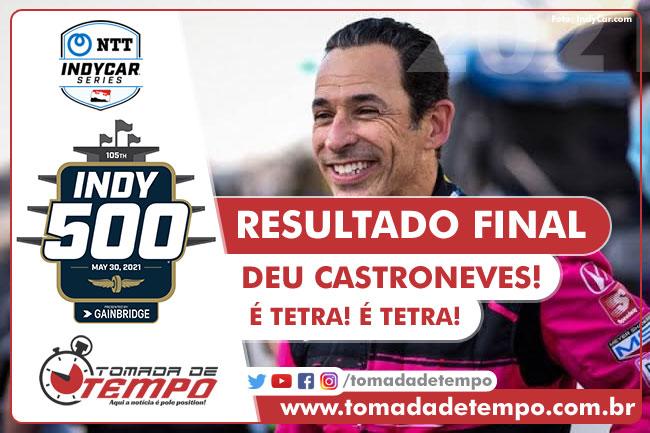 Helio Castroneves - Vencedor das 500 Milhas de Indianapolis 2021 - Tomada De Tempo