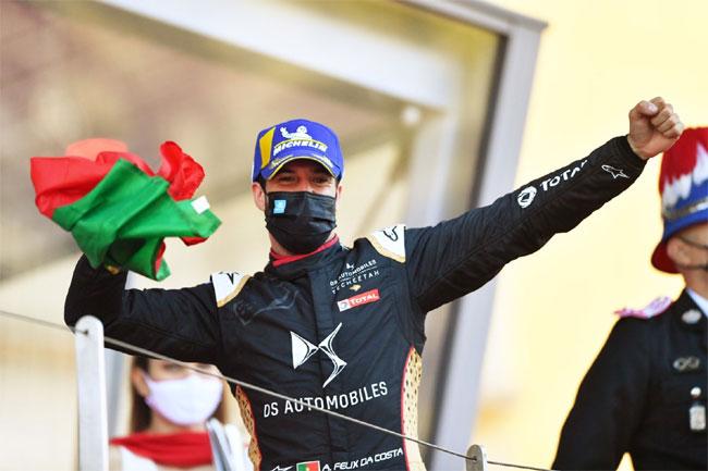 Antonio Felix da Costa - vencedor do ePRix de Mônaco - Fórmula E 2021   Foto: Twitter Fórmula E Oficial