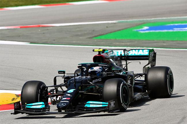Bottas lidera o TL1 da F1 em Barcelona 2021 - Foto: Mercedes AMG F1 Twitter