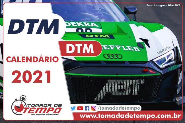Calendário DTM 2021 - Tomada de Tempo