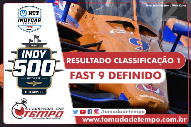 Resultado da classificação #1 - 22/05/2021 - Indy 500 - 2021